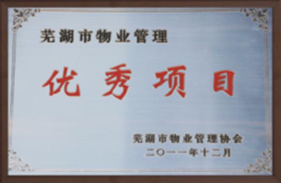 芜湖市亚博体育在线下载管理优秀项目